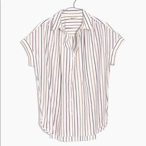NWT Madewell Central Shirt in Sadie Stripe